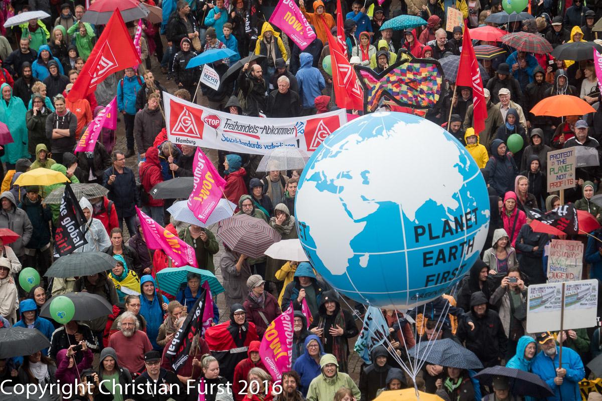 protest gegen g-20 beginnt